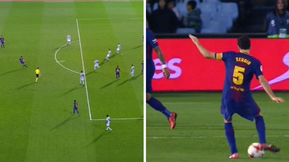 Sergio Busquets estuvo cerca de marcar su mejor gol con la camiseta del  Barcelona en un impresionante disparo con el interior de su pie derecho en  el minuto ... b0439a77f36e1