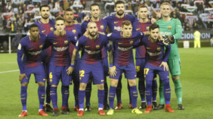 El once del Barça contra el Celta en Balaídos