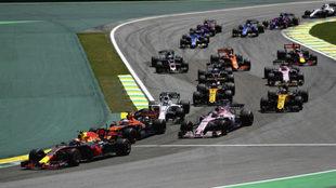 Salida del GP de Brasil 2017.