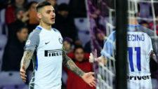 Icardi celebrando el gol ante la Fiore.