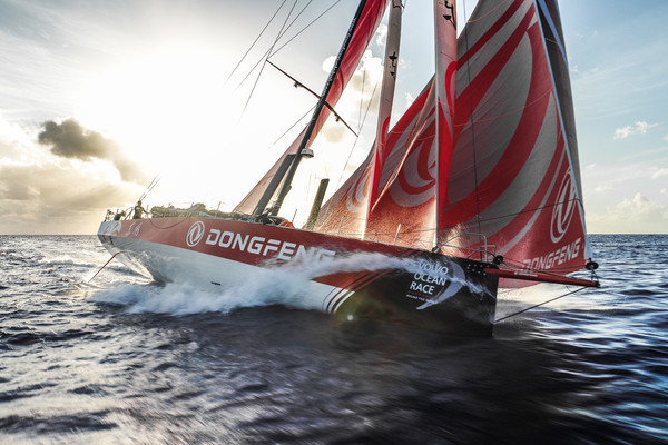 El Dongfeng, navegando rumbo a Melbourne