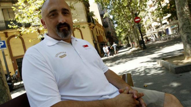 Sergi López durante una entrevista con MARCA en 2013 cuando era...