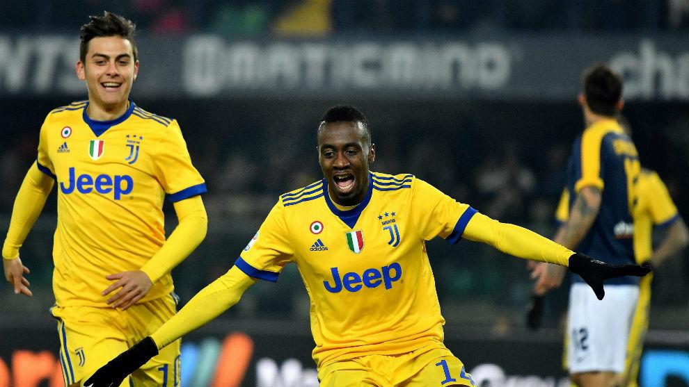 Matuidi celebra un gol en un partido de la Serie A