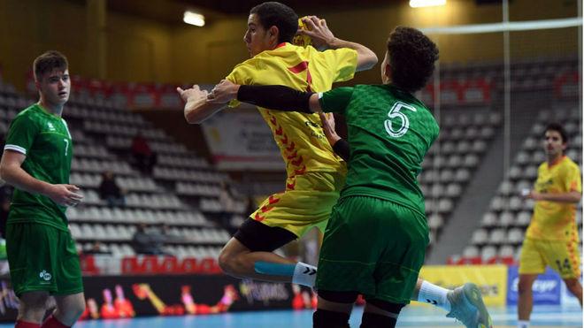 Imagen de la final juvenil masculina entre Cataluña y Andalucía