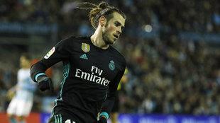 Bale, durante el partido en Balaídos