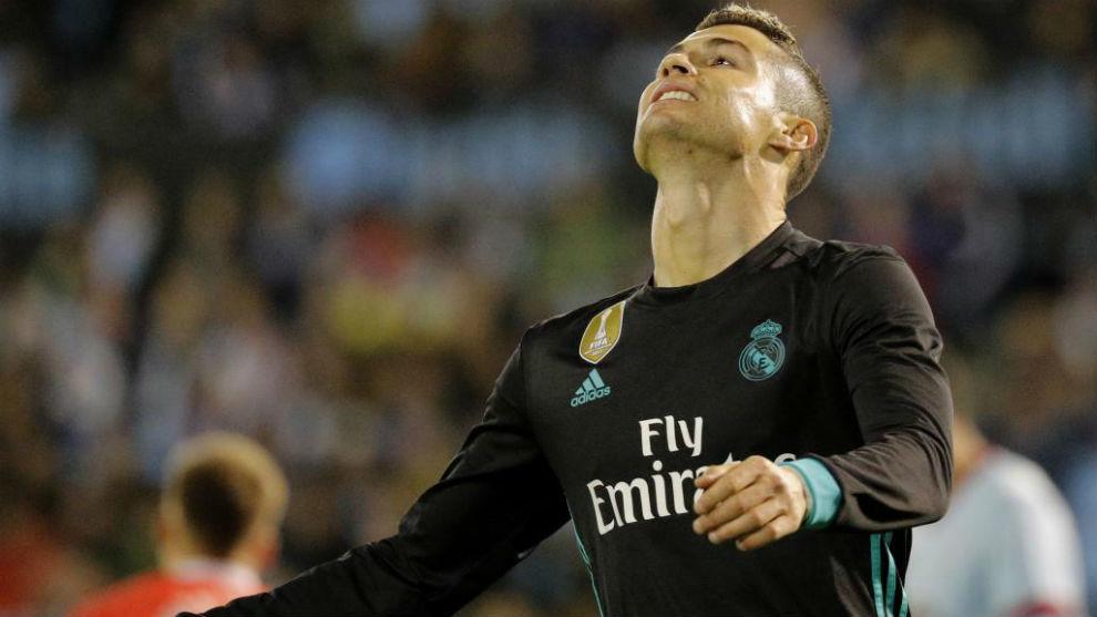 Cristiano lamentándose del empate ante el Celta.