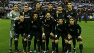 El once del Madrid ante el Celta en Balaídos