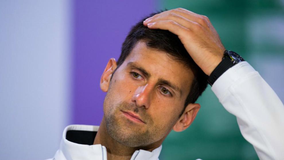 Novak Djokovic, en una conferencia de prensa