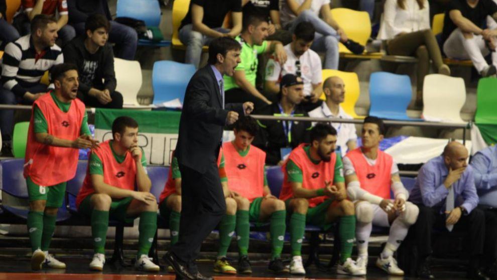 Imanol Arregui durante un partido con Magna Navarra