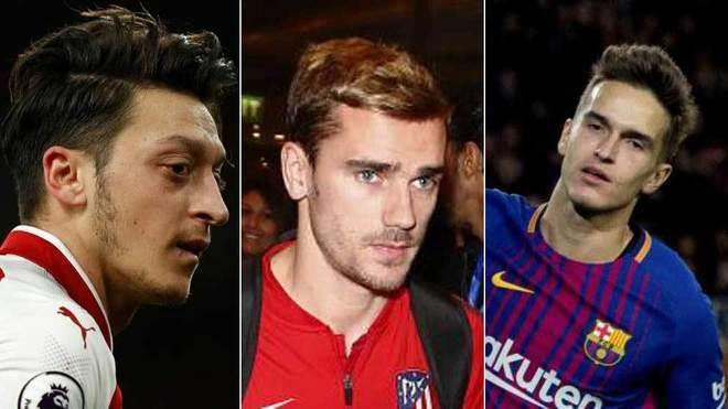 Ozil Denis Suarez Griezmann Kane The Big Names In Mondays