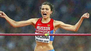 Mariya Lasitskene en el Mundial de Pekín, con su apellido de soltera