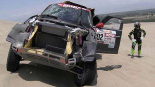 Así quedó el Mini de Roma tras el accidente sufrido ayer.
