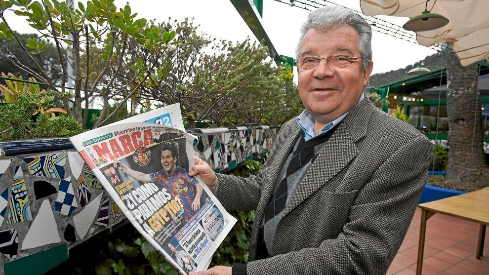 Josep Maria Minguella durante una entrevista para MARCA