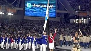 Kim Song-Ho, directivo norcoreano y Ku Min-Jung, voleibolista...