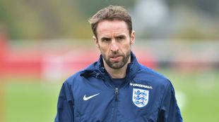 Gareth Southgate, en un entrenamiento con Inglaterra.