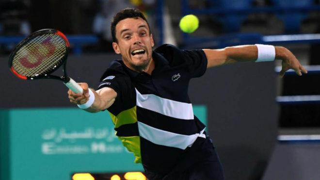 Roberto Bautista Agut en un torneo en Abu Dhabi.