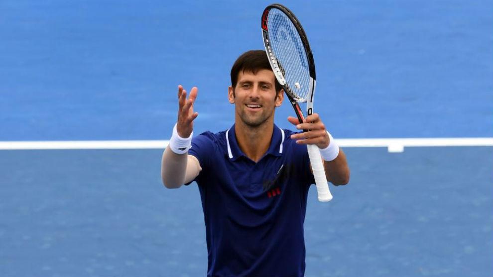 Novak Djokovic, durante su partido frente a Thiem.