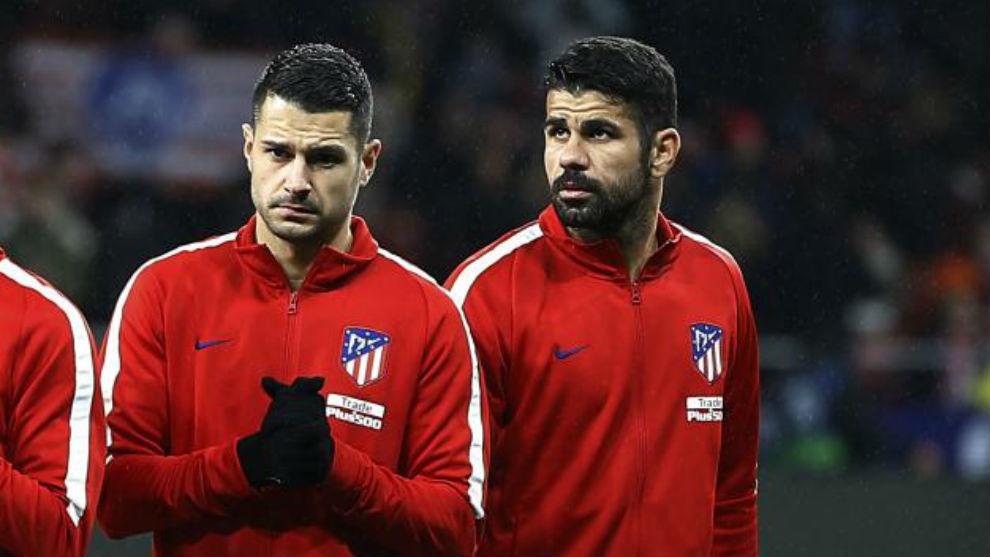 Vitolo y Costa, contra el Lleida.