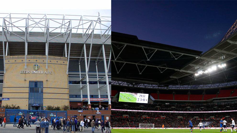 Elland Road y Wembley son los estadios que acogerán los próximos...