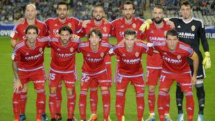 El once zaragocista que jugó hace unos meses en Oviedo.