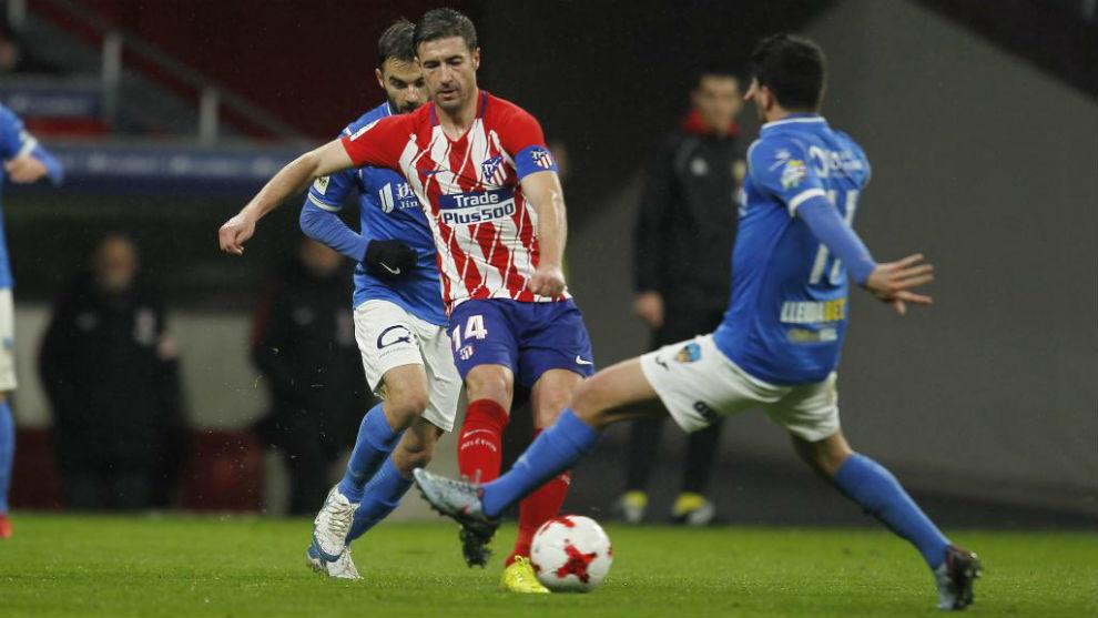 Gabi, durante el duelo frente al Lleida