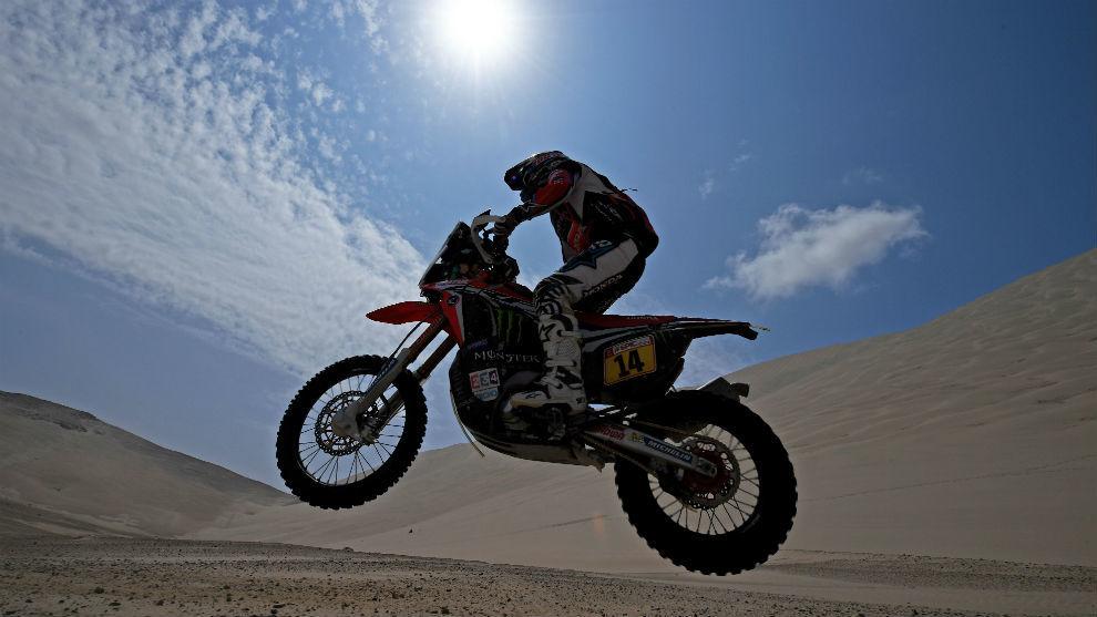 El francés Michael Metge durante el Rally Dakar 2018