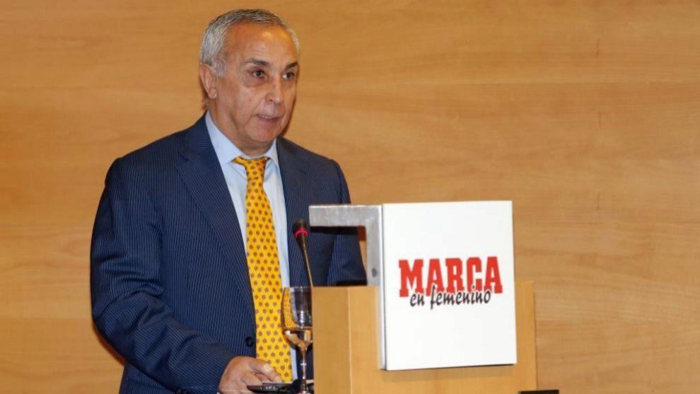 Alenjandro Blanco durante la presentación de MARCA En Femenino