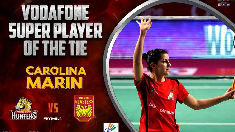 Carolina Marín fue nombrada jugadora del partido