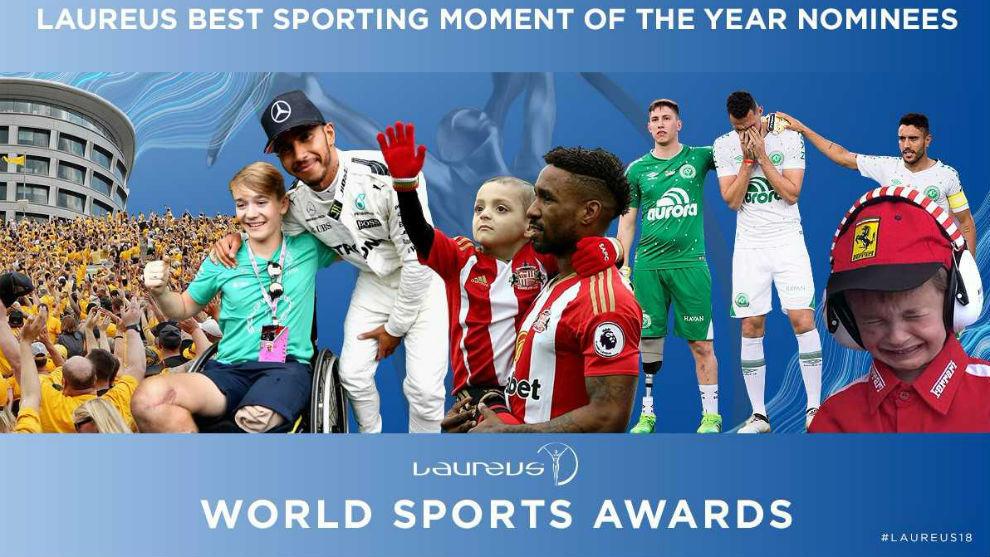 Los nominados al mejor momento deportivo de 2017.