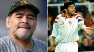 Maradona jugó en el Sevilla en la temporada 92/93