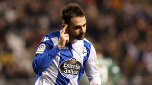 Adrián, con el Deportivo.