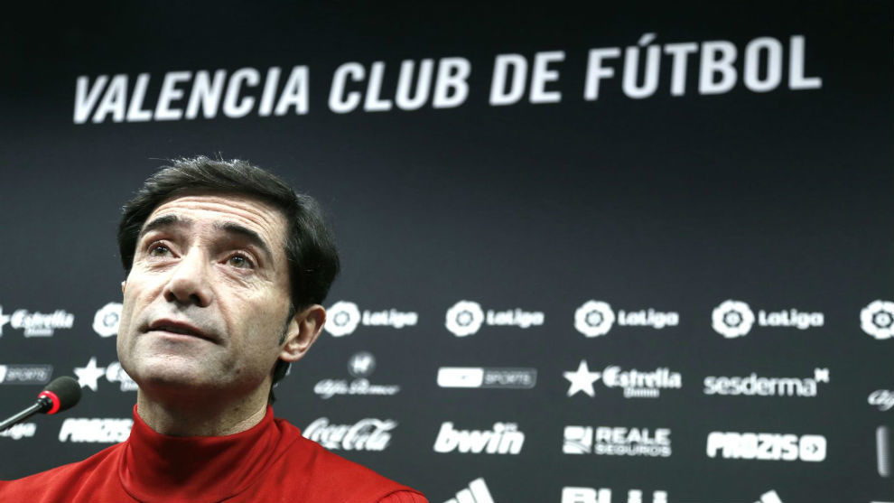 Marcelino, at a press conference.