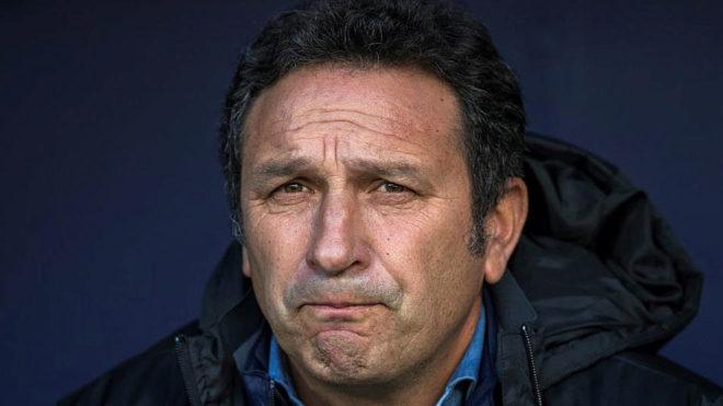 Eusebio, en un partido de la Real Sociedad.