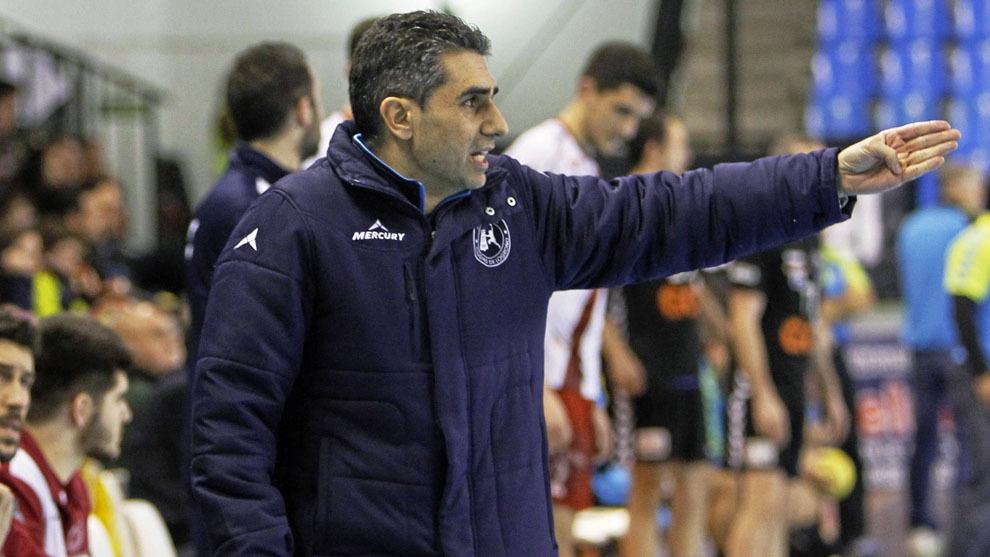 'Jota' González durante un partido con el Logroño