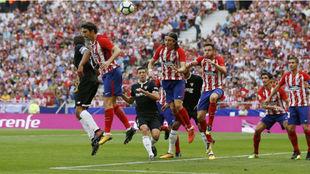 Jugada del Atlético-Sevilla de LaLiga.