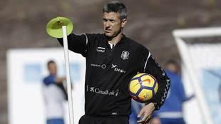José Luis Martí, en un entrenamiento reciente en el Mundialito