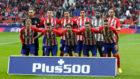 El once del Atlético contra el Getafe en el Wanda.