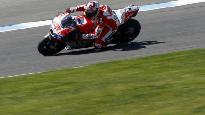 Pirro, en el test de Jerez.