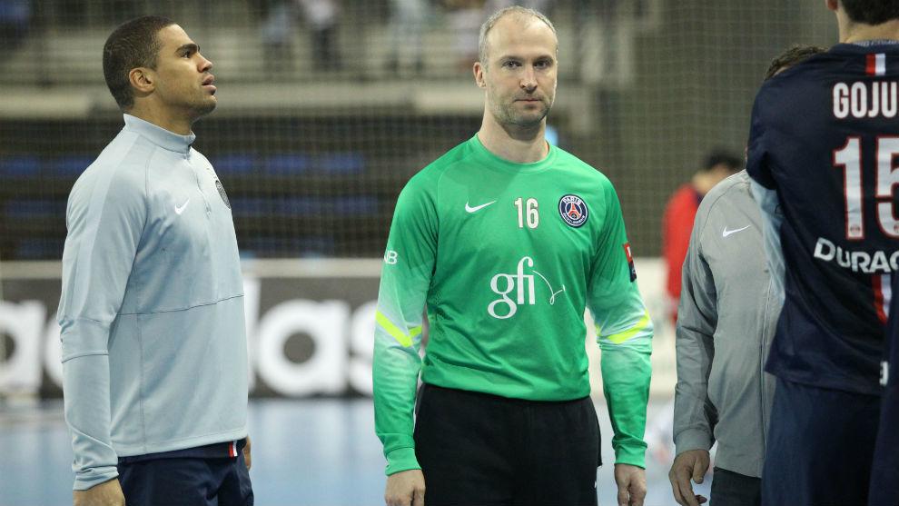 Los franceses Daniel Narcisse y Thierry Omeyer.