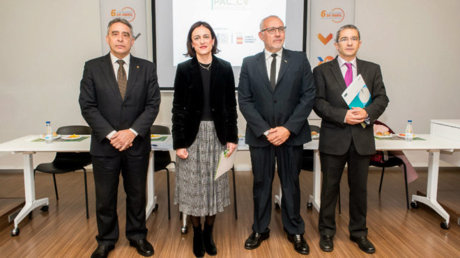 Ricardo Leiva (COE), Elena Tejedor (FTA), Luis Vañó (Fed. Baile...