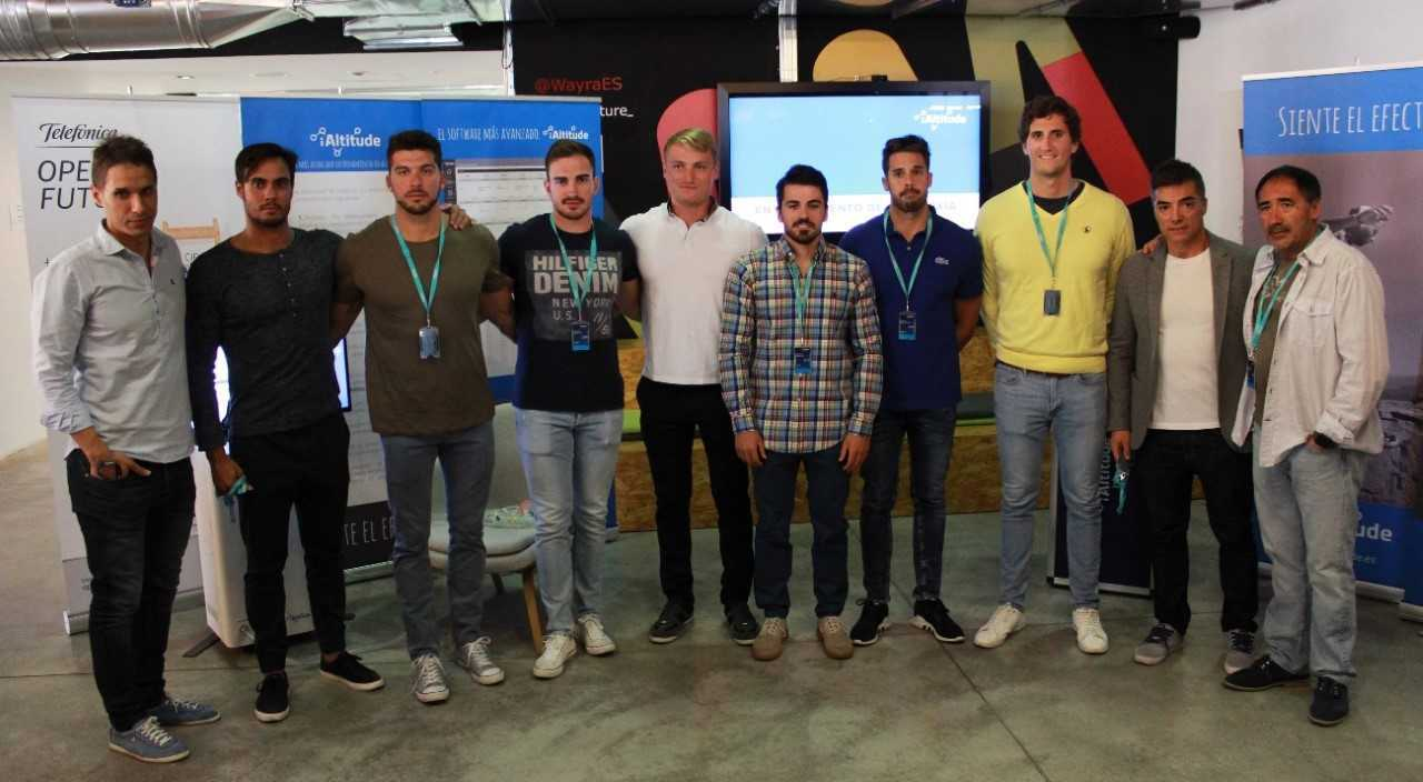 De izquierda a derecha, Manuel Jordán, Rodrigo Germade, Cristian...