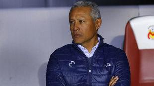 Hernández, presente en el estadio Morelos.
