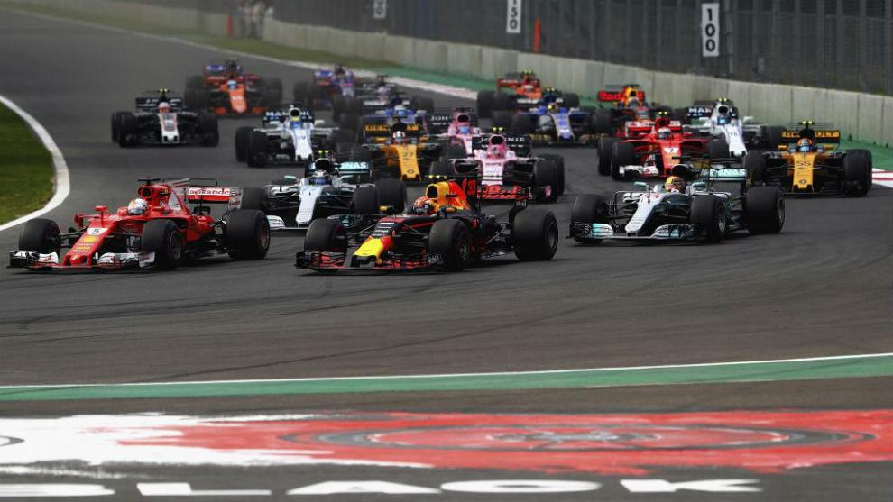 Salida del Gran Premio de México de 2017.