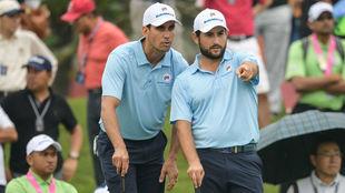 Cabrera-Bello y Levy, en la jornada de la Eurasia Cup.