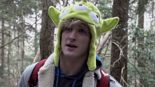 Logan Paul en el polémico vídeo