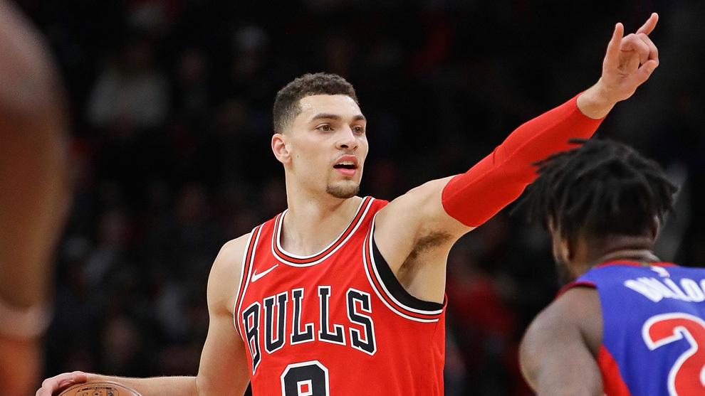 Zach LaVine marca jugada para los Bulls