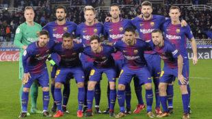 Once del Barcelona en el estadio de Anoeta