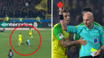 The referee kicked and sent off a Nantes player against PSG!