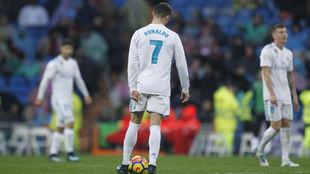 Cristiano, durante el partido ante el Villarreal
