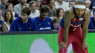 Tyrese Rice en un partido de la temporada pasada con el Barcelona...